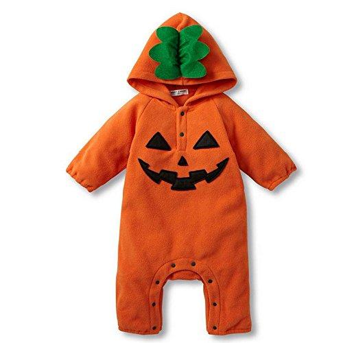 ハロウィン用ベビー服 かぼちゃボディオール ジャックランタンおばけロンパース ハロイン用赤ちゃんパーカ...