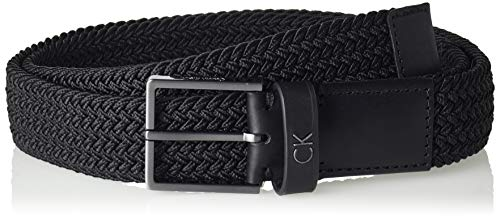 Calvin Klein Formal Elastic Belt 3.5cm Cintura, Nero (Black 001), 5 (Taglia Produttore: 85) Uomo