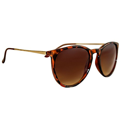 Women's Polarized Sunglasses from EYE LOVE, Designer, 100% UV Block + 5 BONUSES, Brown