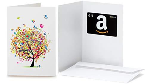 Amazon.de Geschenkkarte in Grußkarte - 15 EUR (Geschenkbaum)