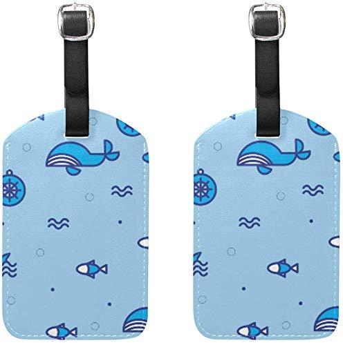 Kostenlose Nautica Pattern # 2 Gepäckanhänger 2Pcs Portable Addr Namensschilder Holder Identifier...