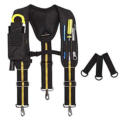 Werkzeuggürtel Hosenträger für Männer Heavy Duty, Werkzeuggürtel Strapse für Männer Heavy Duty, Multi-Taschen Elektriker Tasche mit Lendenwirbelstütze für Tischler Elektriker Arbeitsgürtel