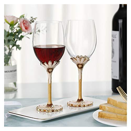 AHAI YU Cristal Premium - Cata de vinos Copas de Vino Tinto, Copas de Vino, Copas de Vino Tinto Extra Grandes, Conjunto de 2 vidrios Anchos con Tallo, encantos de Vidrio de Vino Hombres o