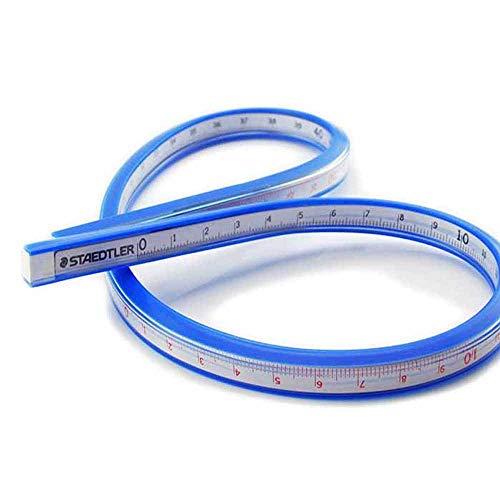 Vektenxi Weiche Lineal Serpentine Maßband Flexible Kurve Lineal Handwerk Zeichnen Zeichnung Kunststoff Maßband 50cm