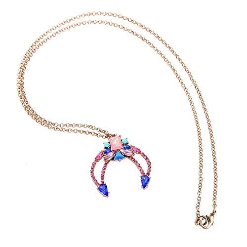 LUOSI Moda Cadena Larga Joyas de diseño Collar Azul Grande Cangrejo Garra Colgante de Collar del Verano Online Collares (Color : 78cm, Size : Multi)