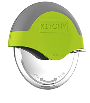 Kitchy Pizza Cutter Wheel - Super Sharp and Easy To Clean Slicer Kitchen Gadget with Protective Blade Guard  Green