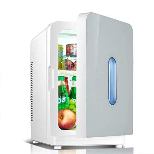 Rindasr Mini-koelkast, koel- en isolerende huishoudelijke stroom koelkast, dual-core koelsysteem, draagbare tafelkoelkast, 20 l