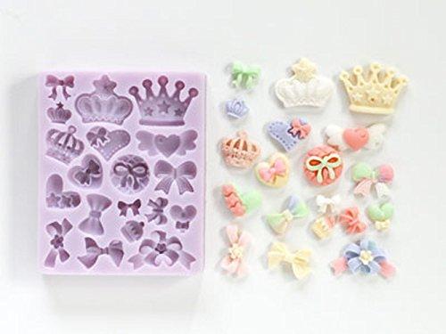 cotta フォンダン&ガムペーストモールド(クラウンバラエティ) 薄紫 9.5×7.7×1.5cm 87315