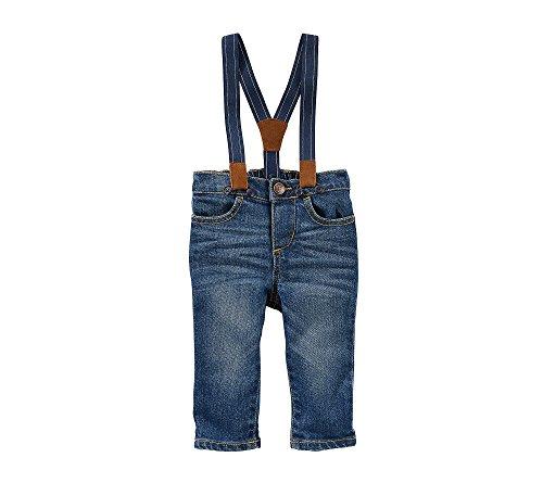Oshkosh B'Gosh Toddler Boys SUSPENDER JEANS - DERBY WASH, 2T, 3T, 4T, 5T (3T)
