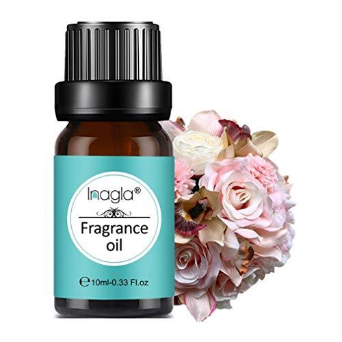 Inagla Aceites de Fragancia, Aceites de Aromaterapia, Aceites Esenciales para Humidificadores de Flowerbomb 10ML