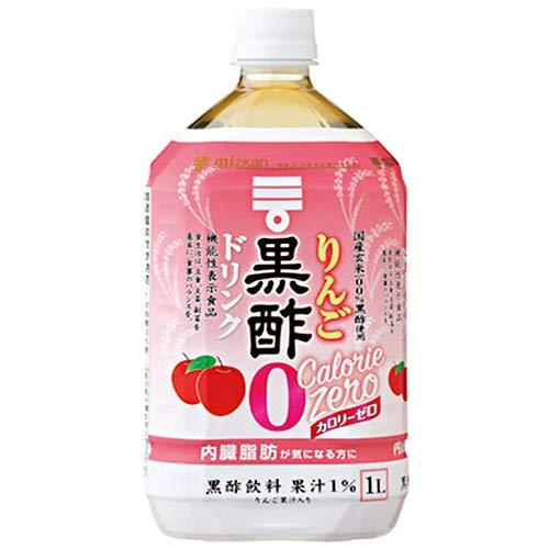 ミツカン りんご黒酢 カロリーゼロ【機能性表示食品】 1Lペットボトル×6本入