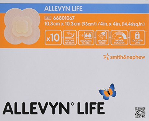 Smith & Nephew Melolin ALLEVYN Adhesive Leben Pack 10 Pflaster 10,3 cm x 10,3 cm