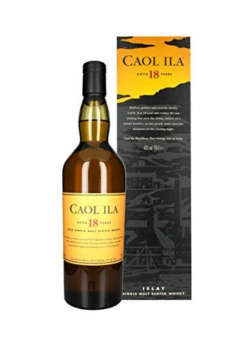 Caol Ila 18 Years Old Islay Single Malt Scotch Whisky 43{2464cbe60891bf0ac4d81e5585dec835247c461ab928ebc941f644ca148eff97} Vol. 0,7 l + GB
