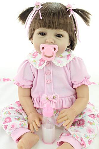 MaiDe Reborn Bambola Molle del Bambino di Simulazione del Silicone Vinile 22 Pollici 55 Centimetri Magnetica Bocca Bella Realistica Sveglia della Ragazza del Ragazzo Bambini Giocattolo