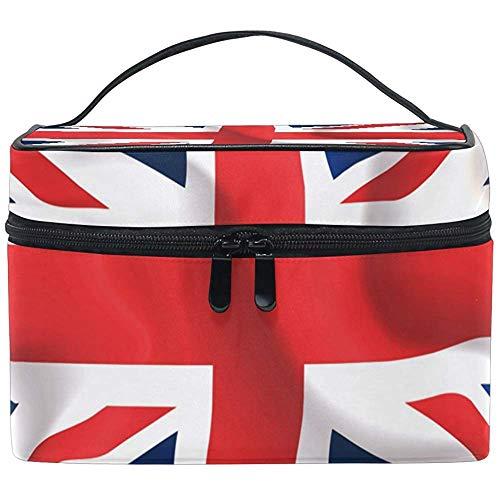 UK drapeau ondulant sac cosmétique voyage maquillage train cas stockage organisateur