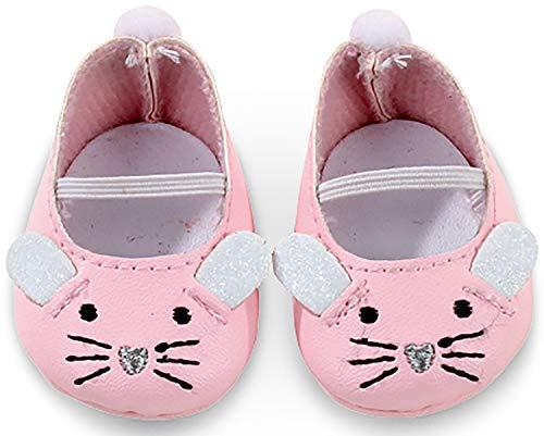 Götz 3402538 Mäuschen Puppenschuhe - Puppenkleidung & Puppenzubehör für Babypuppen Gr. M von 42 - 46 cm und Stehpuppen Gr. XL von 45 - 50 cm