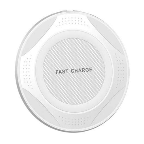 Rabusion Electronics For QI 10W Fast Wireless Charger Charging Pad for Huawei P30/Mate 20 Pro Samsung S10 white