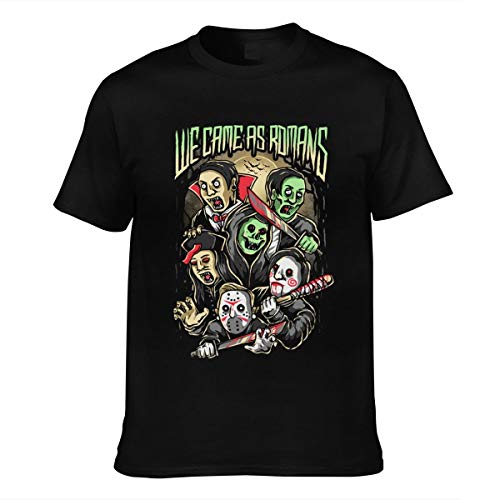 Herren We Came As Romans Logo Vintage Baumwolle Tee Shirts Bekleidung T Shirt Kurzärmlig Crew Neck Black XXL T-Shirt Für Men