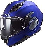 LS2, casco de moto modular VALIANT II azul mate, XS