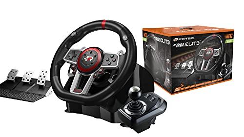 FR- TEC -  SUZUKA ELITE NEXT Volante con Pedales y Cambio Manual (Series X,  Playstation 4,  Xbox One,  Playstation 3,  Switch y PC)