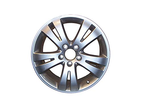 Aluminum Wheel - All Painted Silver - 5 Spoke - 5 Stud - 17 x 7.5 Inch - 47mm Offset - Compatible with 2008-2010 Mercedes Benz C300