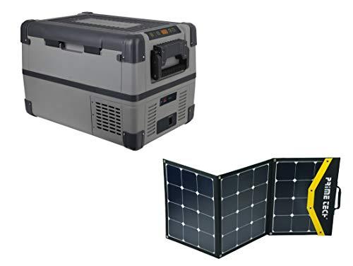 Prime Tech Kompressor-Kühlbox 28 Liter bis -20°C, 12/24 Volt 120WP Solar-Bundle