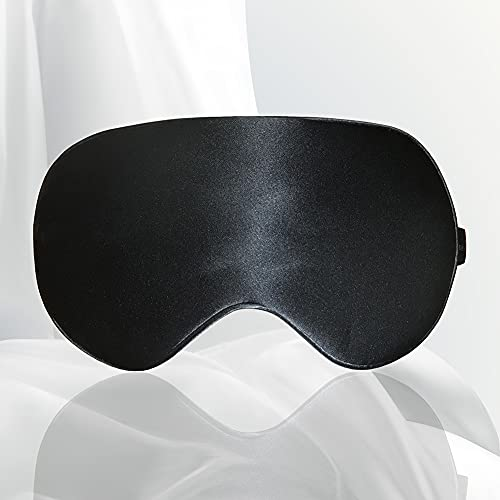 Morninglord Premium 100% Silk Sleep Mask with Adjustable Strap, Super Smooth & Soft Eye Mask, Sleeping Mask for Women Men, Perfect Block Light, Pressure Free for Sleeping