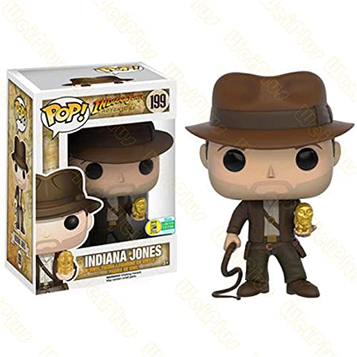 Funko Pop-Film Action Figures from Raiders of The Lost Ark # 199 Indiana Jones Vinyl Model Collectable Toys for Friends Birthday Gift-199-with Box