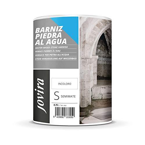 BARNIZ PIEDRA AL AGUA Barniz para piedra y sustratos minerales. (750 ml, SEMIMATE)