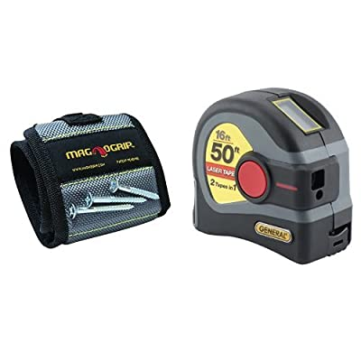 MagnoGrip 002-160 Magnetic Wristband and LTM1 2-in-1 Laser Tape Measure