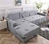 Geometric Couch Cover Stretch Slipcovers Set Elastic Sofa Cover for L Shaped Sectional
