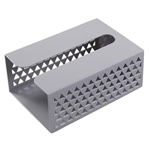 Inicio Caja de pañuelos de Pared Servilletero Dispensador de plástico Estante de Almacenamiento Carro de Cocina Caja de Almacenamiento Colgante (Color: Gris Claro)