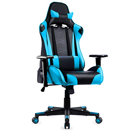 Racing Silla Gamer, IntimaTe WM Heart Silla Gaming de Ergonómica, Silla con Reposacabeza Apoyo y Co