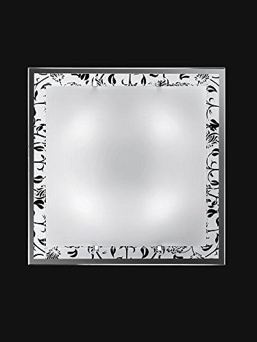 Plafón de cristal con diseño 4E27, máx. 40 W