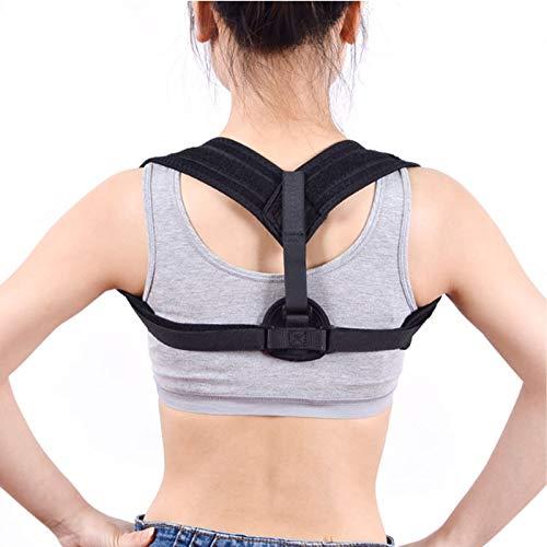 YSXFS Posture Corrector for Adult Clavicle Support,Adjustable Breathable Back Support Shoulder Posture Correction Improves Posture (Color : Black, Size : One size)