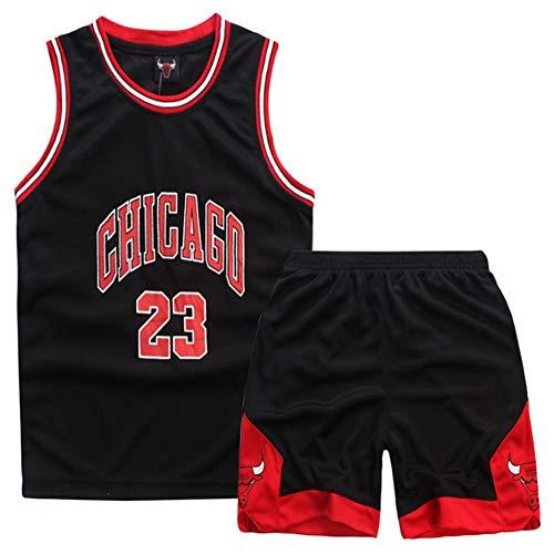 GAOZI Maglie Basket Bambini Magliette da Basket Bulls 23# Jordan Basket Veste Pantaloncini Estivi...