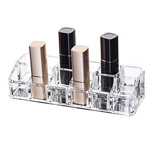3 x Acryl Make-Up Organisator Houder Doos, Grote Capaciteit - Oogschaduw Nagel Poolse Parfum Lipsticks, Met 12 Grids, Leuke Gift Voor Make-up Lover - Transparant