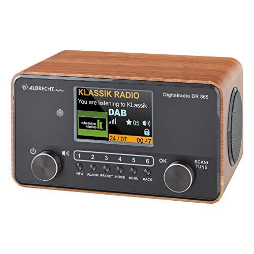 Albrecht DR 865 Seniorenradio, 27865, bedienerfreundliches DAB+/UKW Digitalradio, große Schriften, Farbdisplay, 14 Watt RMS Stereo, schwarz/braun