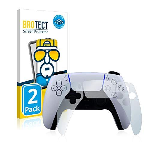 brotect Pellicola Copertura Completa Compatibile con Sony Playstation 5 PS5 Dualsense Controller (2 Pezzi) Full-Cover 3D Curvo