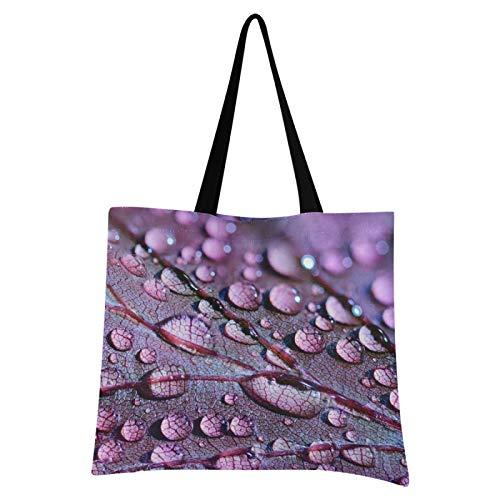 JinDoDo - Bolsa de lona para compras, viajes, escuela, color lila y morado