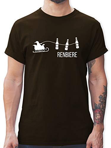 Typisch Männer - Renbiere - M - Braun - Bier männer - L190 - Tshirt Herren und Männer T-Shirts