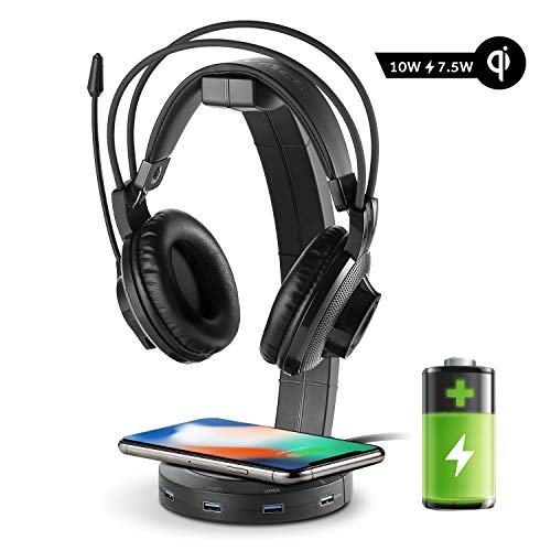 EasyAcc Kopfhörerhalter Gaming Headset Halterung Over Ear Kopfhörer Halter, Schwarz