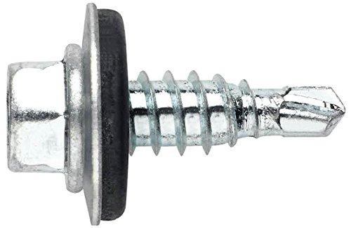 Index ARE166320 - Tornillo punta broca reducida cabeza hexagonal 8 mm con arandela P-16 EPDM zincado 6,3 x 20