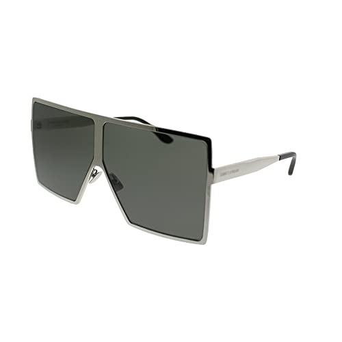 4c19feda18 Saint Laurent Betty SL 182 006 Silver Metal Square Sunglasses Grey Lens
