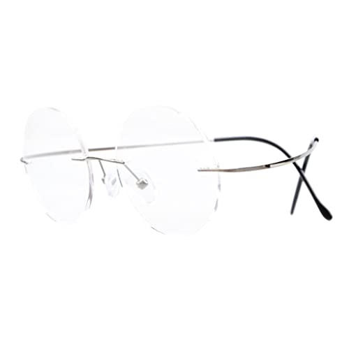 6967ffefe3 Eyekepper Titanium Rimless Round Eyeglasses Circle Optical Frame