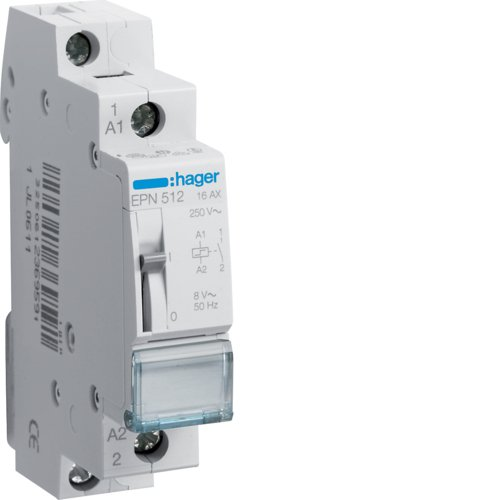 Hager EPN512 Fernschalter 16A 1S 8V