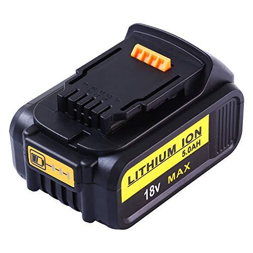 Venghts DCB184 18v 5.0Ah batería de Repuesto para Dewalt DCB182 DCB180 DCB181 DCB182 DCB201 DCB205-2 DCB205 DCB203 DCB201-2 con indicador LED Herramientas eléctricas inalámbricas