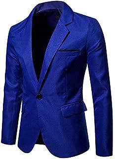 Men's Job Market Casual Pocket Button Jacket Business Suit Coat Top Suit Blazer for Weddings Party Dinner Prom Banquet