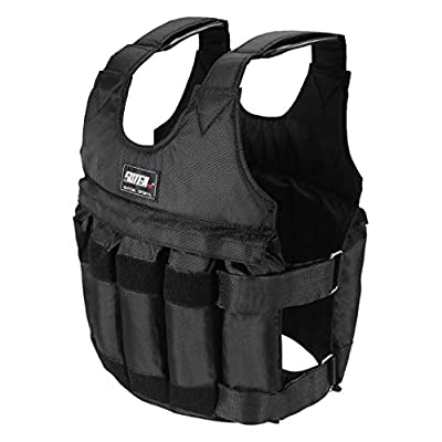 Dengken Weighted Vest Jacket 110LB Adjustable Weight Workout Exercise Strength Training Equipment Running Pull-Ups Weight Lifting Fitness for Men, Women, Kids