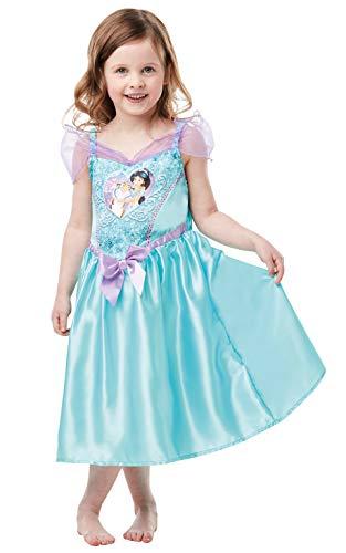 Rubie's Officiële Disney Princess Pailletten Jasmijn Klassiek Kostuum, Kinderen Peuter Leeftijd 2-3 jaar, Hoogte 98 cm